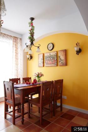 美式乡村设计室内两室两厅设计图片
