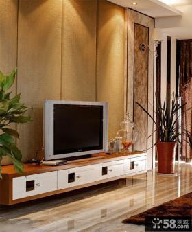 时尚家装别墅客厅电视背景墙