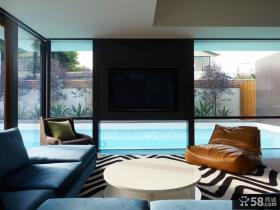 澳洲维多利亚海岸别墅客厅装修效果图大全2014图片