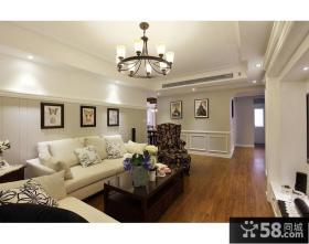 美式风格客厅家具摆放效果图