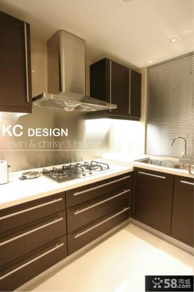 现代简约厨房整体橱柜设计图片