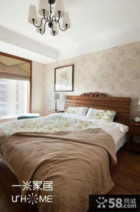 美式田园风格家居卧室图