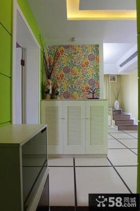 玄关鞋柜背景墙装饰效果图