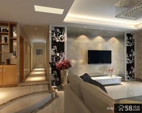 欧式电视背景墙设计 电视背景墙装饰图片