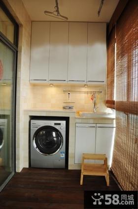 优质小阳台洗衣房效果图