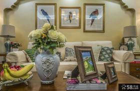 美式田园客厅软装设计图片