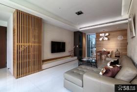 现代日式装修客厅电视背景墙图片大全