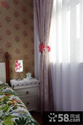 欧式田园90平米两室一厅电视背景墙效果图