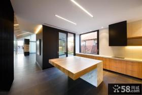 别墅厨房装修效果图 现代别墅简单厨房橱柜效果图