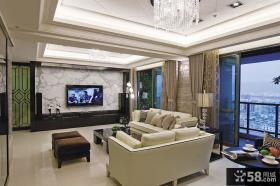 北欧装修设计客厅电视背景墙优质图片