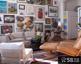 客厅家装手绘装饰画图片大全