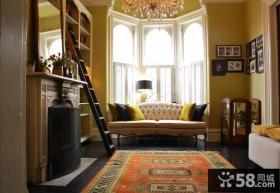 欧式小客厅飘窗设计