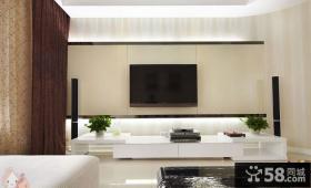 现代风格120平米三居电视背景墙装修效果图片