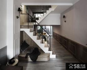 乡村美式风格客厅室内设计效果图